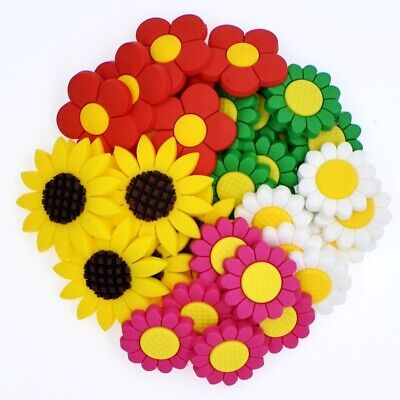 Birthday Girl Gifts 50pcs Cute Flowers Soft Sandal Charms Fit Wristbands