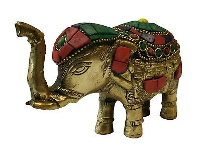Decorative Beautiful Solid Brass Handmade Showpiece Elephant Statue Gift #TSH148