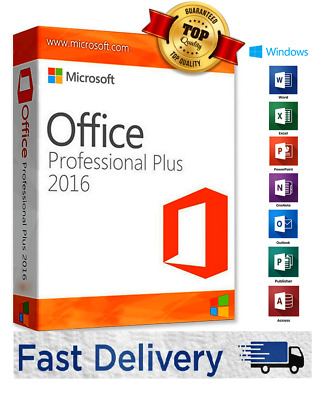 MICROSOFT OFFICE 2016 PROFESSIONAL PRO PLUS 32/64-BIT KEY LICENZA Multilanguage