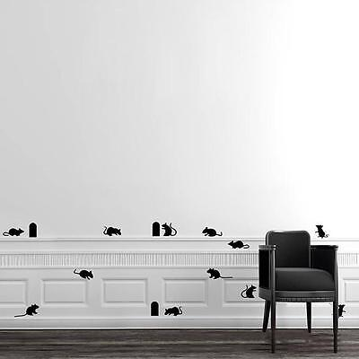 Novelty Mouse Cave Wall Decals Sticker Home Background Kids Room Decor RF