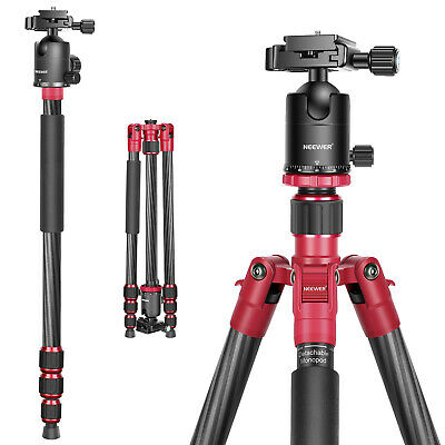 "Carbon Fibre 67"" Tripod Monopod w/ 360 Degree Ball Head for DSLR Camera"