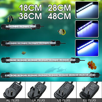 18-48cm Waterproof Submersible Aquarium LED Light Fish Tank Bar Tube Light