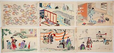 Full Set of Tale of Genji, 54 Chapters, Japanese Woodblock Prints, Ukiyo-e,Japan