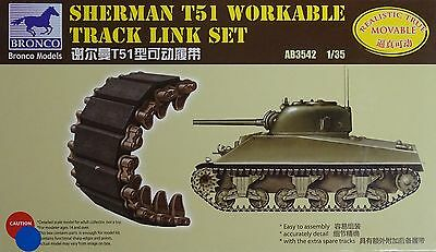 BRONCO AB3542 T51 Workable Track Links for Sherman in 1:35