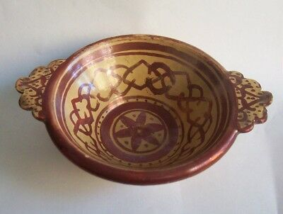 16th - 17th century HISPANO MORESQUE TIN GLAZED BOWL Porringer