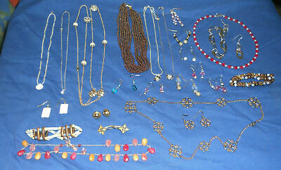 Large Mixed Jewelry Lot Junk Drawer Vintage to Now 50 pcs all wearable