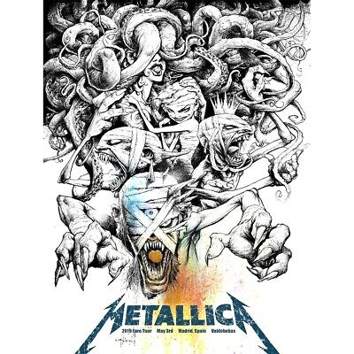 🔥 METALLICA MADRID SPAIN MAY 3rd 2019 SE SHOW EDITION NUMBERED POSTER PRINT
