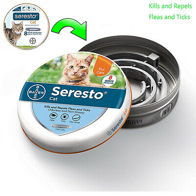 Bayer Seresto Flea and Tick Collar for Cats Brand New Free Shipping