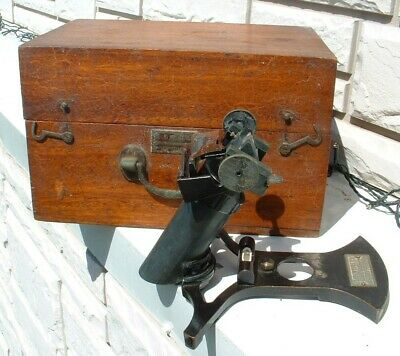 Louis Weule Vintage Nautical Instrument Octant Azimuth Mirror Sextant