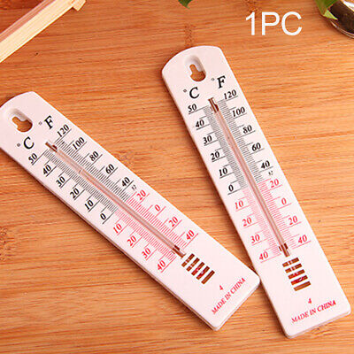 New Wall Thermometer Indoor Outdoor Garden Greenhouse Home Office Room Flowery