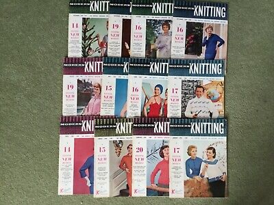 Full Year 1958 Modern Knitting Magazine For Machine Knitters 12 Issues