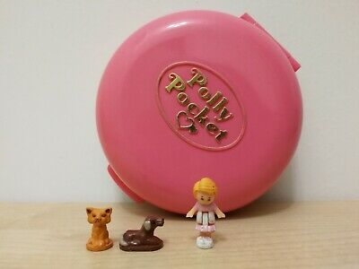 Vintage Polly Pocket Button Animal Hospital Vet Compact 100% COMPLETE