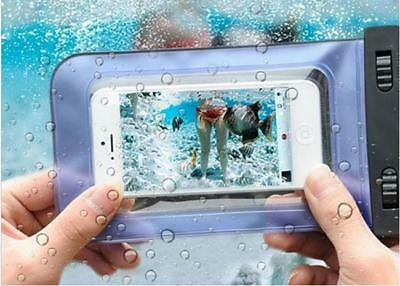 6 Colors Universal Smartphone Mobile Phone Waterproof Pouch Bag Case RF