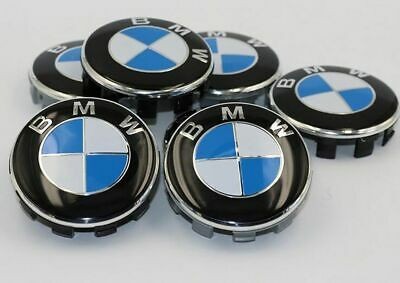 4Pcs Genuine BMW Emblem Badge Hub Wheel Rim Center Cap 68mm Set of 4 grey#AAAAA