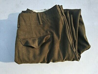 WW2 US Army Button Fly Wool Pants/Trousers Size 34x31 - Dated 1944