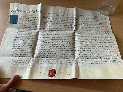Large 15 April 1802 Vellum Indenture - Edward Sheppard Of Gatcombe Park (Glos)