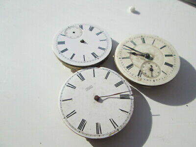 3  Vintage  Pocket Watch Movements  All Fob Watch