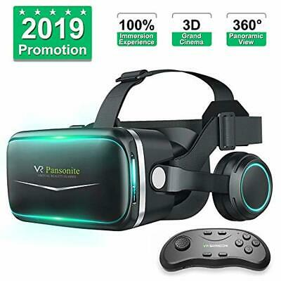 Pansonite Vr Headset with Remote Controller[New Version], 3D Glasses Virtual Rea