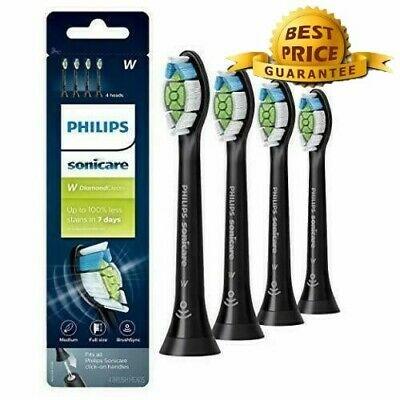 New Design 4X Philips Sonicare Diamond Clean Toothbrush Heads HX6064 Black