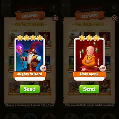 Coin master cards. Holy monk and mighty wizard.Fast delivery