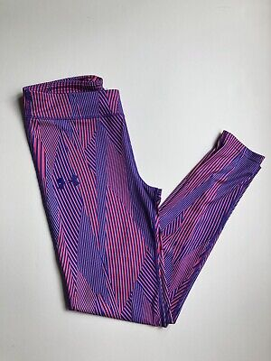 Girl's Youth Under Armour HeatGear Printed Legging Pants 1292806 Large