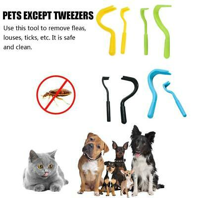 2PCS Pets Tick Removal Tool Dual Teeth Tick Twister Cats Dogs Cleaning Supplies