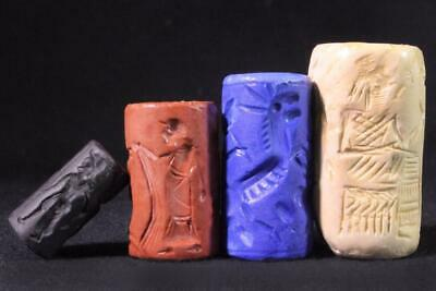 ANCIENT CYLINDER SEAL SET #21 replica ancient stone seals