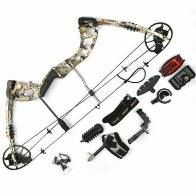 JunXing M125 30-70lbs Aluminum Compound Bow Set for Archery Hunting Shooting