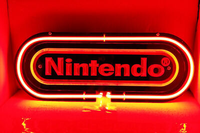 "Nintendo 3d Carved Neon Sign Beer Bar Gift 14""x7"" Light Lamp Bedroom Glass"