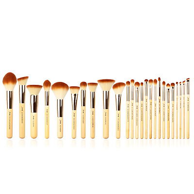 Jessup Brand 25pcs Beauty Bamboo Professional Makeup Brushes Make up Brush Tools