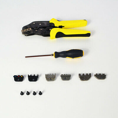 Top Portable Cable Wire Terminal Crimper Ratcheting Crimping Plier Tool Kit