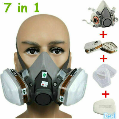 NEW Safety Painting Spraying Half Face Dust Gas Mask Respirator For 3M 6200 N95