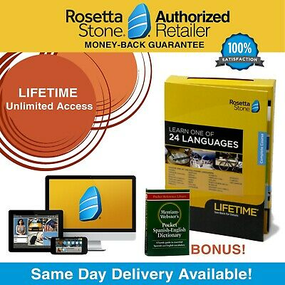 Rosetta Stone® Learn Spanish LIFETIME UNLIMITED Complete Course App FREE BONUS