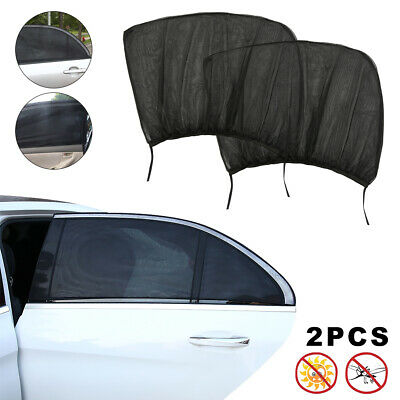 Car Window Sun Shade Screen Cover Mesh Sock Protect Kids Baby Dogs for Rear UK