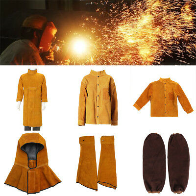 5Types Cowhide Coat Apron Clothing Apparel Sleeves Jacket Safety Welding Leather