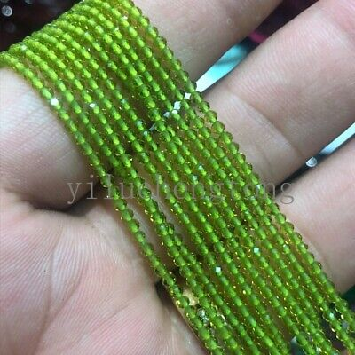 Spinel   Peridot   Gemstone Rondelle Micro Faceted diy Beads 2mm