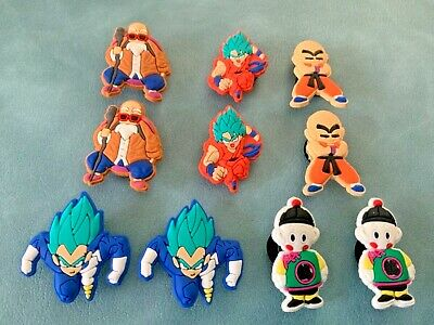 80b7e0f9db 10 x DRAGONBALL Z Jibbitz Shoe Charm made for Crocs & Wristbands,