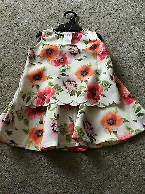 Ex store Evie Angel 2 piece floral set BNWOT size 3-4 years FREE POSTAGE