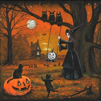 1.5x2 DOLLHOUSE MINIATURE PRINT OF PAINTING RYTA 1:12 SCALE HALLOWEEN STEAMPUNK