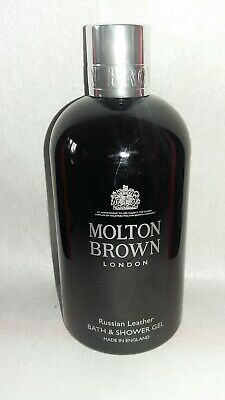 Molton Brown Russian Leather Bath & Shower Gel 300ml new edition x displa