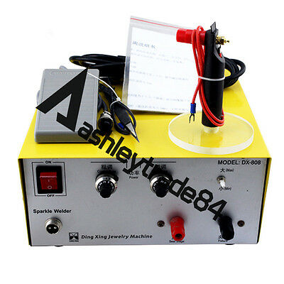 2in1 80A 110V/220V DX-808 Pulse Sparkle Spot Welder Gold Silver Jewelry Machine