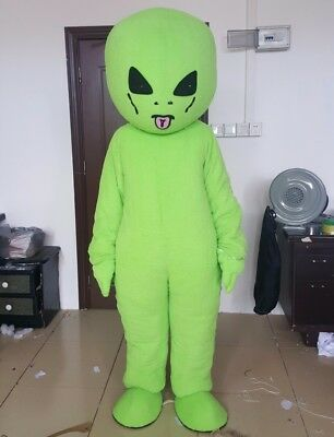 High Quality Green Alien Mascot Costume Birthday Party Cosplay Fancy Toy Dress