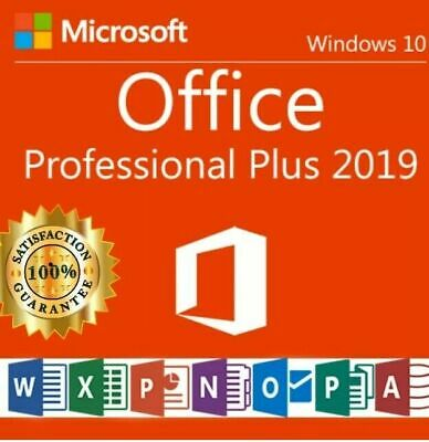 Office 2019 Professional Plus Key 32/64 MS Pro Download License For 1PC Genuine