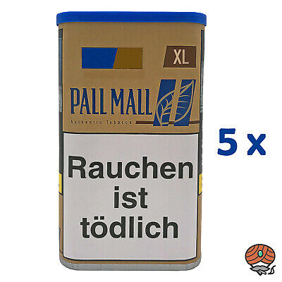 5x Pall Mall Authentic Blue / Blau XL 65 g Dose