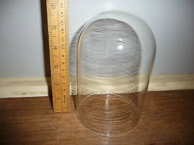 Vintage Glass dome for Dome Clock / Anniversary Clock . 6 in. Glass dome