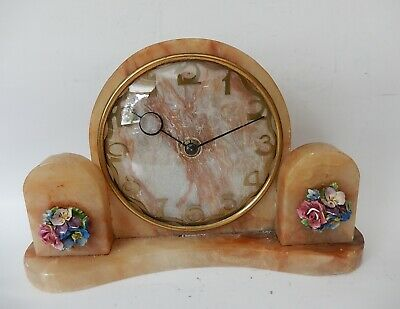 Smiths Art deco Marble Mantel Clock Fully Working 2953