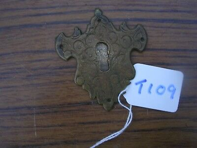 Antique Brass Escutcheon (T109)