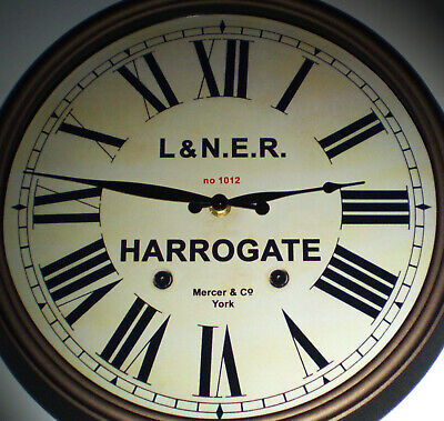 London North Eastern Railway LNER Style Clock, Harrogate Station.