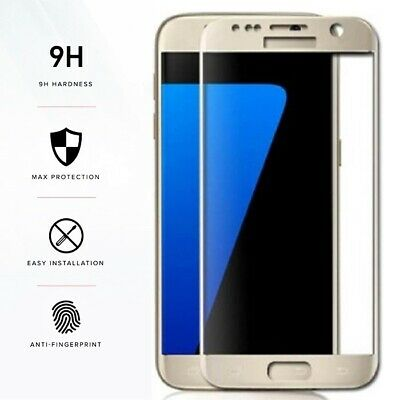 FULL COVER Gorilla Gold Tempered Glass Screen Protector Film for Samsung Galaxy