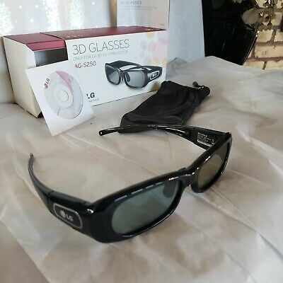 LG AG-S250 3D Glasses Only Used Once! TESTED. Please read description. See pics.